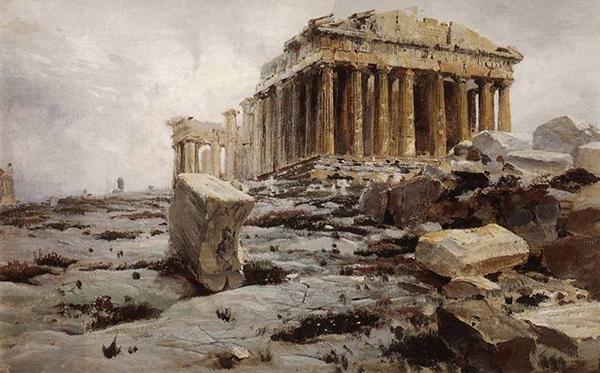 Vasiliy Polenov - Acropolis/Parthenon (Quelle: Wikimedia Commons)