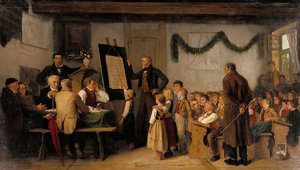 Albert Anker - The school exam (Quelle: Wikiart)