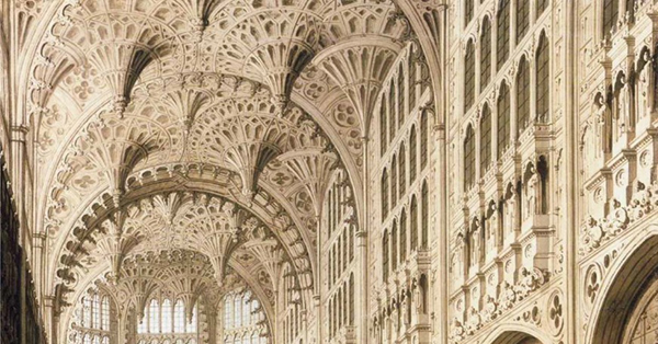 Canaletto - The Interior of Henry VII Chapel in Westminster Abbey (Ausschnitt) (Quelle: Wikiart)