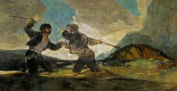 Francisco Goya -  Fight with Cudgels (Quelle: Wikimedia Commons)