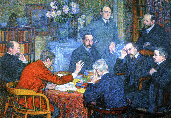 Theo van Rysselberghe - The Reading (Quelle: Wikiart)