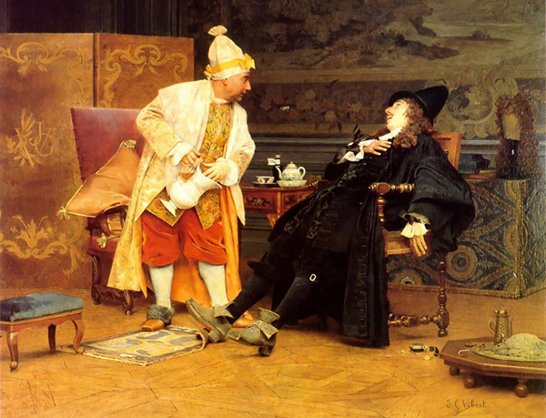 Jehan Georges Vibert - The sick doctor (Quelle: Wikiart)