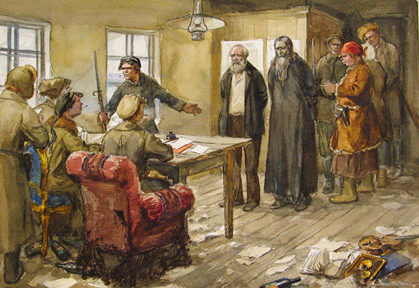 Ivan Vladimirov - Questioning in the commitee of the poor (Quelle: Wikiart)