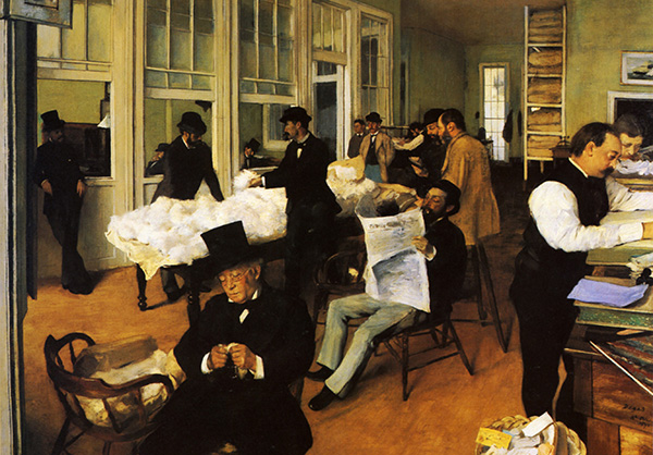 Edgar Degas - A Cotton Office in New Orleans (Quelle: Wikiart)