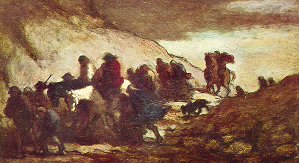 Honoré Daumier - The Refugees (Quelle: Wikiart)